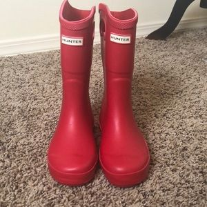 Boys Hunter for Target Red Rain-boots Size 13